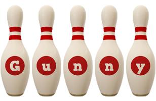 Gunny bowling-pin logo