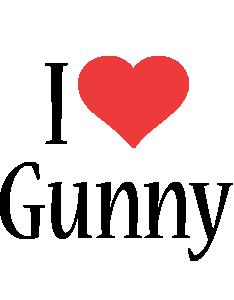 Gunny i-love logo