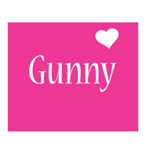 Gunny love-heart logo