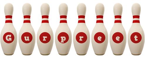 Gurpreet bowling-pin logo