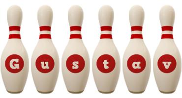 Gustav bowling-pin logo