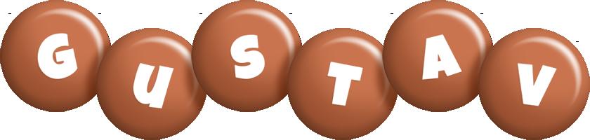 Gustav candy-brown logo