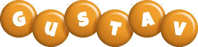 Gustav candy-orange logo