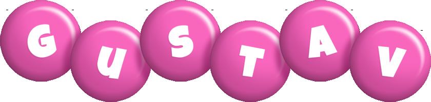 Gustav candy-pink logo
