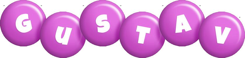 Gustav candy-purple logo