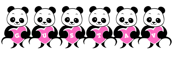Gustav love-panda logo