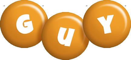 Guy candy-orange logo