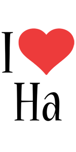Ha I Love Logo