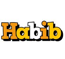 Habib cartoon logo