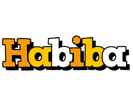 Habiba cartoon logo