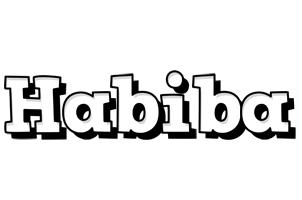 Habiba snowing logo