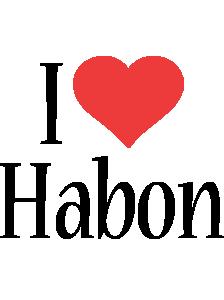 Habon i-love logo