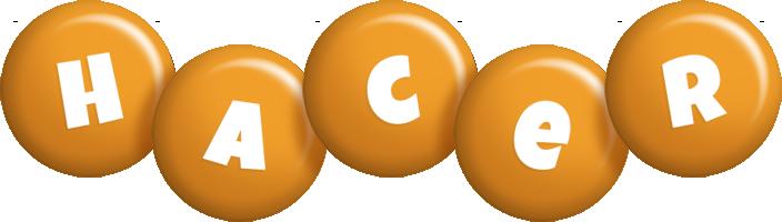 Hacer candy-orange logo