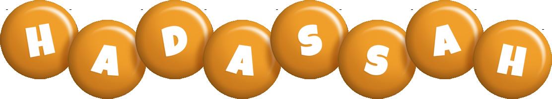 Hadassah candy-orange logo
