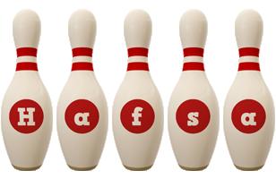 Hafsa bowling-pin logo