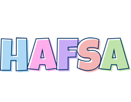 Hafsa pastel logo