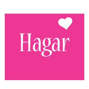 Hagar love-heart logo