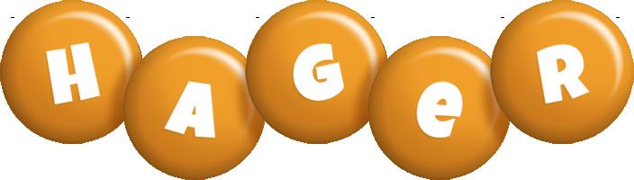 Hager candy-orange logo