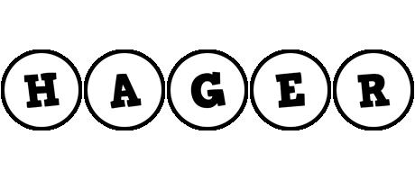 Hager handy logo