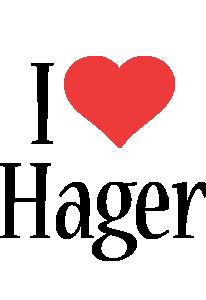 Hager i-love logo