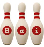 Hai bowling-pin logo