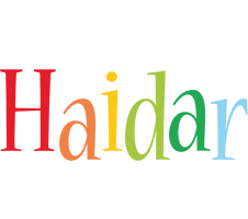 Haidar birthday logo