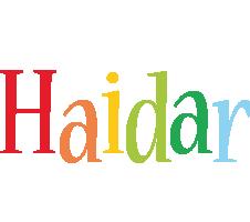 Haidar birthday logo