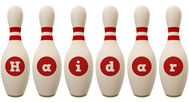 Haidar bowling-pin logo