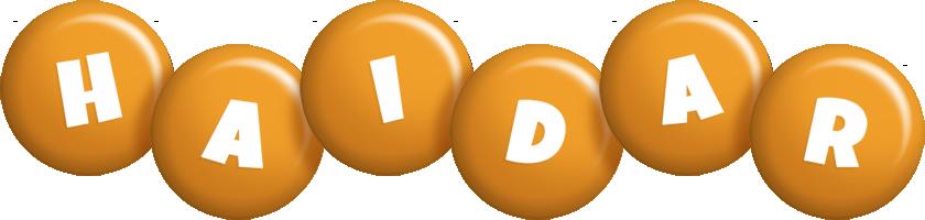 Haidar candy-orange logo