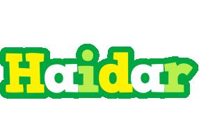 Haidar soccer logo