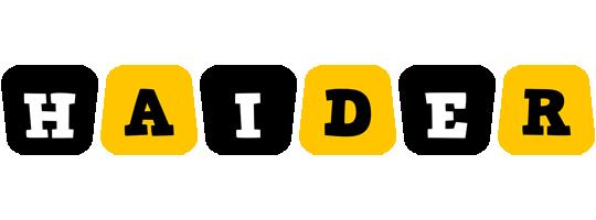 Haider boots logo