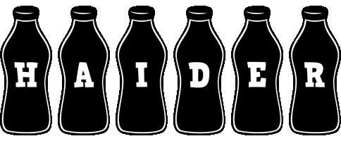 Haider bottle logo