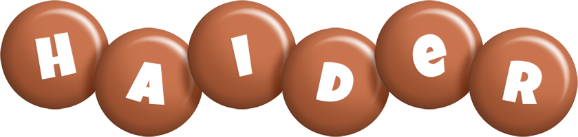 Haider candy-brown logo