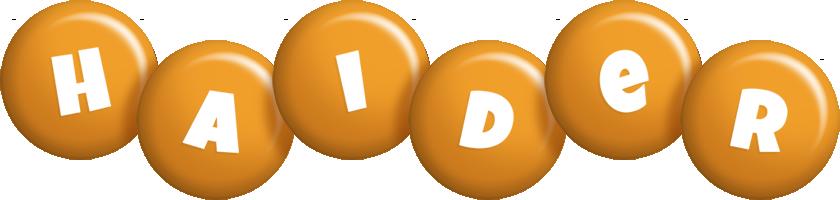 Haider candy-orange logo