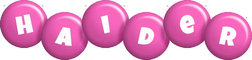 Haider candy-pink logo