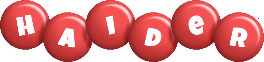 Haider candy-red logo