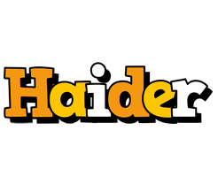 Haider cartoon logo
