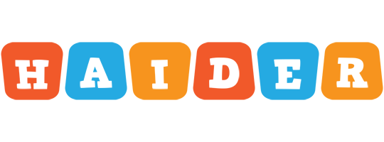 Haider comics logo