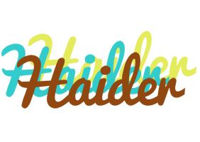 Haider cupcake logo