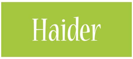 Haider family logo
