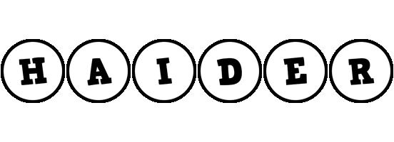 Haider handy logo