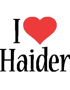 Haider i-love logo