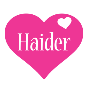 Haider love-heart logo