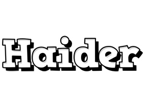 Haider snowing logo