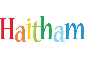 Haitham birthday logo