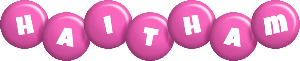 Haitham candy-pink logo