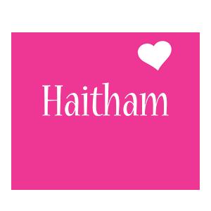 Haitham love-heart logo