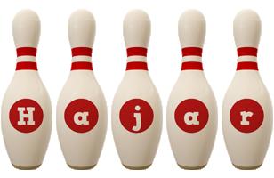Hajar bowling-pin logo
