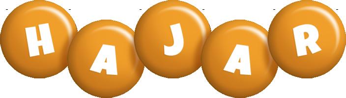 Hajar candy-orange logo