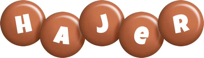 Hajer candy-brown logo